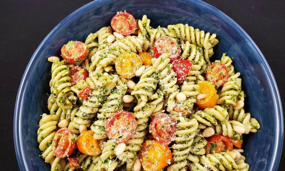 Gluten Free Pesto Pasta Salad 7