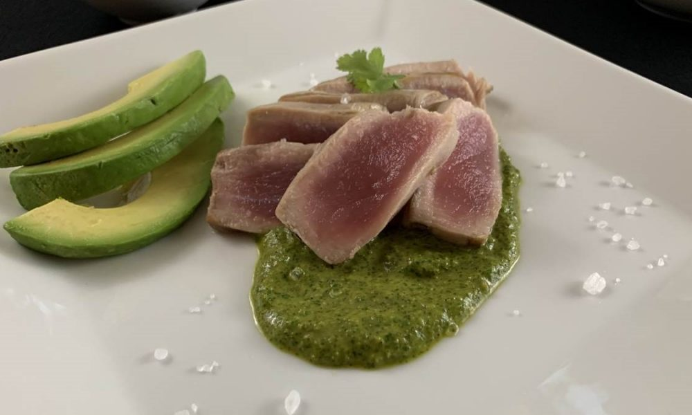 Grilled Ahi Tuna with Cilantro Pesto 3