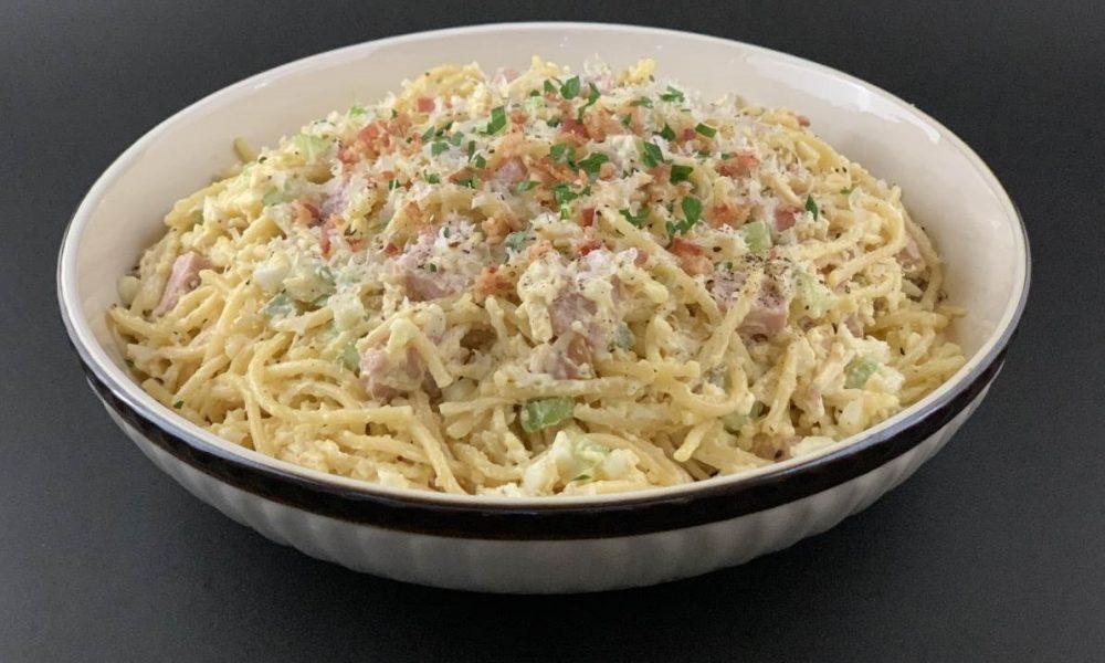 Spaghetti Salad Carbonara 1